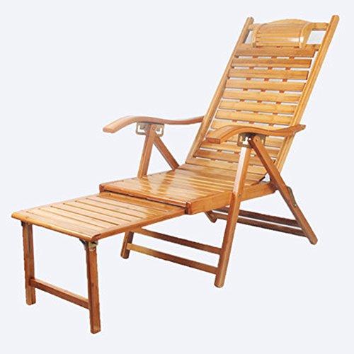 FEIFEI Fauteuils inclinables Chaise pliante de chaise longue de bambou Pliant (Couleur : B)