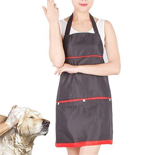 Haustierpflege-Schürze Latzschürze für Hairstylist Girls Chef mit 2 Fronttaschen, Küchenschürze zum Kochen Backen Garten Haustierpflege Reinigung Pet Shop Arbeitskleidung