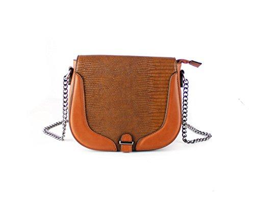 FoxLady - Borse a spalla Borsa strutturata elegante da donna Cocoa Brown