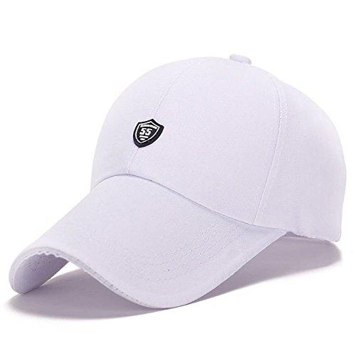 honour fashion-Casquette de Golf Longues Visiere Pour l'été (Blanc,TU)