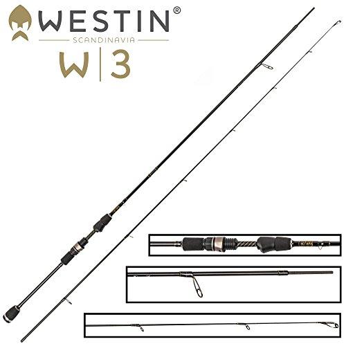 Westin W3 Streetstick 183cm L 2-7g - Spinnrute zum leichten Spinnfischen, Barschrute zum Spinnangeln, Ultra Light Rute zum Jiggen