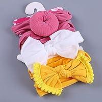 Tensay 3 Pcs Newborn Kids Toddler Children Baby Elastic Bowknot Accessories Hairband Set