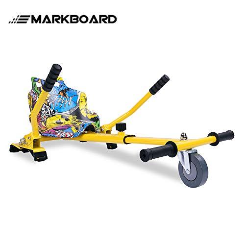 MARKBOARD Hoverkart Sitzscooter Gokart, Hovergokart, Hoverdrift hovercart, Sitz für Elektrokart Self Balancing Scooter, Kompatibel mit 6,5, 8,5 und 10 Zoll Hoverboard (hip)