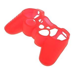 Unbekannt Ersatz Haut Kasten Silikon Schutzhülle für PS3 Controller – rot