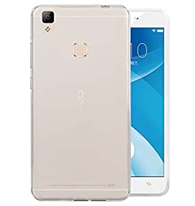 SDO™ Dotted Finish Ultra Thin Silicone Soft Jelly Case Back Cover for VIVO V3 Max (Transparent) + Micro USB Charging Cable