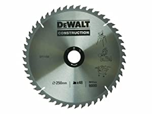 DeWalt DT1159QZ 250 x 30mm x 48-Tooth Construction Circular Saw Blade