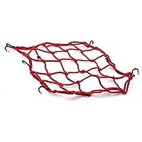 VANKER Estiramiento de la bicicleta MTB de equipaje cuerda Bungee Net Red de carga engranar con ganchos--Rojo