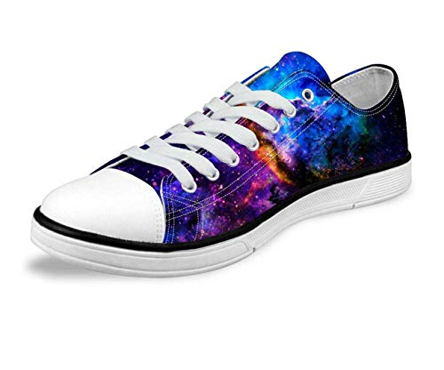 Galaxy Space Men Women Canvas Shoes Outdoor Casual Sneakers Training Shoes Flats Blue-C0164AP 4