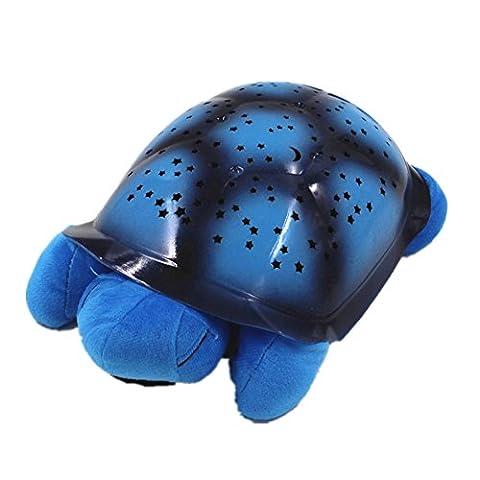 Schildkröte Stern Projektor Lampe Schlaf Licht (Blau)