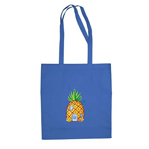Ananas tief im Meer - Stofftasche / Beutel Blau