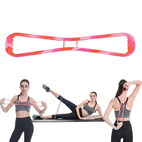 Widerstandsbänder AOGETYO Elastisch Silikon Fitnessbänder Übungsbänder Resistance Bands Trainingsbänder Expander Gym Stretch Bänder für Frauen Yoga Pilates Muskel Krafttraining (Mehrfarbig) - Stretch-band Workout