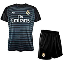 Conjunto de Camiseta y Pantalon de Portero Negro del Real Madrid 2018-2019  - Replica 15629db324e34