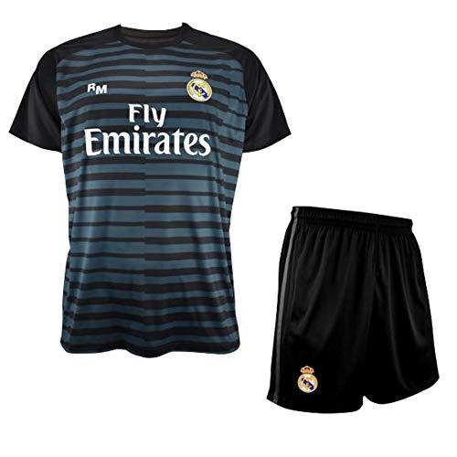 Conjunto de Camiseta y Pantalon de Portero Negro del Real Madrid 2018-2019  - Replica 5a2c89d0145bb