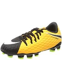 Nike Jr. Mercurial Vapor XI (FG), Chaussures de Football Mixte Enfant, Orange (Laser Orange/Black-White-Vert Volt), 35.5 EU