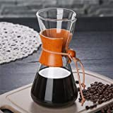 KITCHY 550ML High-Borosilicate Glass Pour-Over Coffee Pots Manual Drip Pot High Temperature Resistant Glass Coffee Maker Coffeeware: A