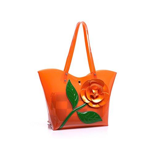 Taschen Handtaschen Damen Einfach Henkel Tasche Elegant wasserdichte Handtasche Kunstleder Schultertasche Farbe 7