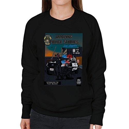 Amazing Police Stories LA Bright Women's Sweatshirt Black