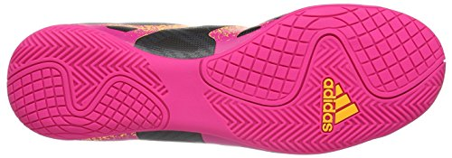 adidas X 15.4 IN, Chaussures de Football Compétition Homme Noir - Schwarz (Core Black/Shock Pink/Solar Gold)