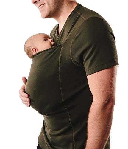 SMACO Känguru-Vater-Multifunktionskleidung, T-Shirt mit Rundhalsausschnitt Herrenkleidung Grau Schwarz Grün,Green,M