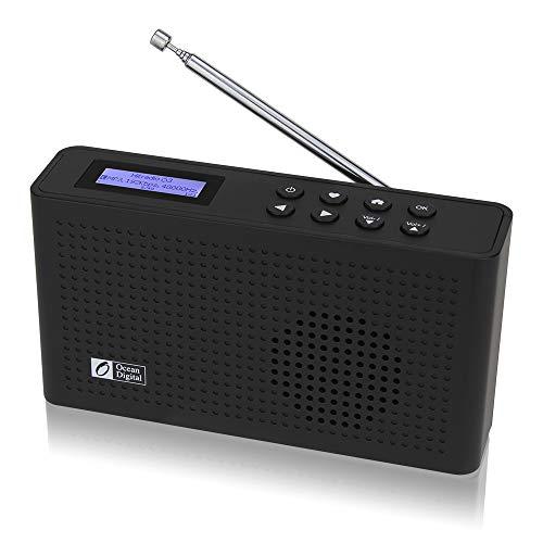 Ocean Digital Radio por Internet con Wi-Fi/Dab/Dab + / FM con Receptor Bluetooth, Altavoz, Radio compacta con batería Recargable para Huerta (WR26)