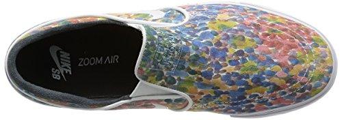 Nike Zoom Stefan Janoski Slip Prm, Scarpe da Skateboard Bambino Bianco (Blanco (White / Black-White))