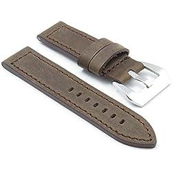 DASSARI Bentley Brown Vintage Leather Watch Band for panerai size 20/20 20mm