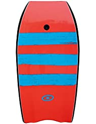 Osprey Stripe Bodyboard with Leash, XPE Board with Crescent Tail
