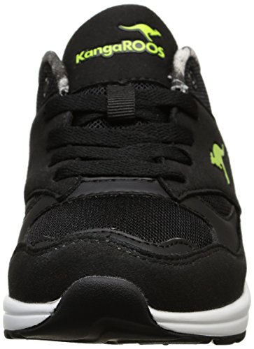 KangaROOS Kanga X 2100, Baskets Basses Mixte Enfant Noir (Black/Lime 580)