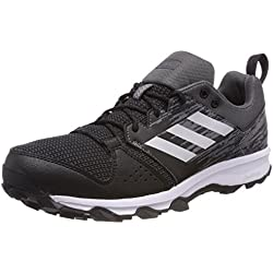 adidas Galaxy Trail, Zapatillas de Trail Running para Hombre, Negro (Core Black/Matte Silver/Carbon), 43 1/3 EU