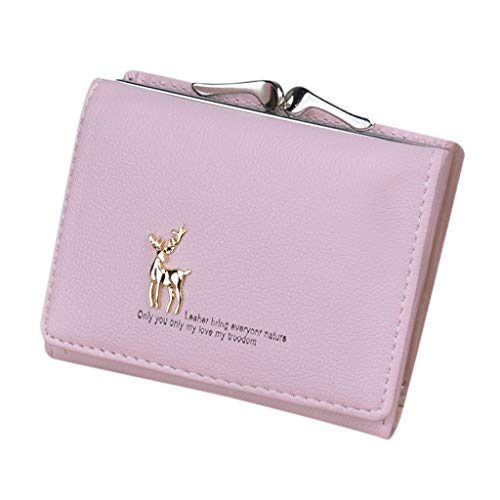 Tumi Slim Wallet (Cenlang Wallet For Women With Coin Pocket Bag,Coin Purse Pouch Wallet Money Bag,Id Card Holder Slim Coin Purse,Ladies Handbag(Blue,Black,Purple,Pink,Watermelon Red))