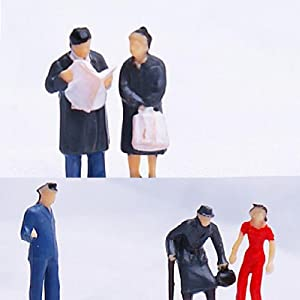 24pcs Painted Model Train People Figures Scale HO (1 to 87)