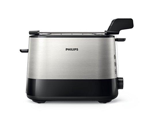 comprare on line Philips HD2639/90 Viva Collection Tostapane con Lati in Metallo e Pinza per Sandwich, 730 W prezzo