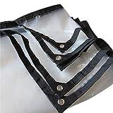 YYZSL Teloni, Coperchio Telo Trasparente Coperchio Telo Impermeabile e Spesso Telo per Sandbox Resistente agli strizzacervelli/antiruggine/ruggine e Resistente alla Muffa (Colore : 6x24ft/2x8m)