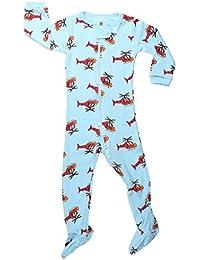 elowel Bebe Garcons Grenouillere Pyjama Une Seule Piece Bien Serre, Coupe etroite 100% Coton (Taille 6 Mois -5 Ans)