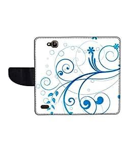 KolorEdge Printed Flip Cover For Huawei Honor Holly Multicolor -(50KeMLogo12393HonorHolly)