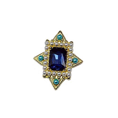 phir Perlenkette Western Retro Court Geometric Design Brosche Blumenmädchen ()