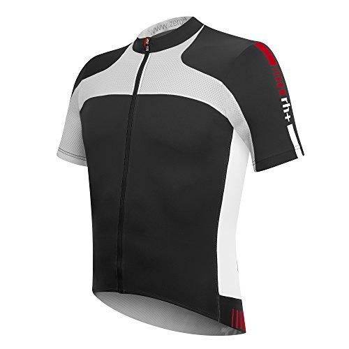 zero rh++ Herren Fahrradtriko Agility Jersey FZ, Black/White, XL, ECU0286910XL