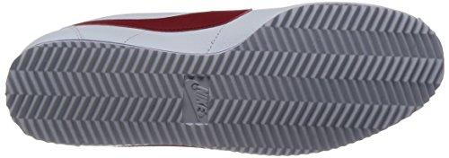 Nike Herren Classic Cortez Leather Laufschuhe, Weiß, 44 EU Weiß (Weiß (weiß/varsity red-varsity royal))