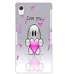 SONY XPERIA Z2 LOVE YOU Back Cover by PRINTSWAG