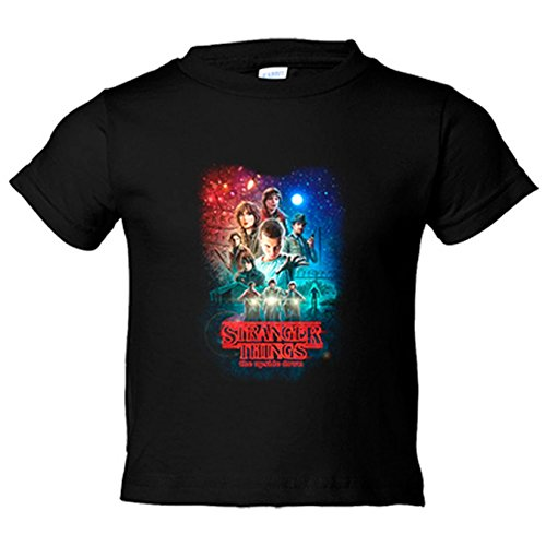 Camiseta niño Stranger Things Poster The Upside Down - Negro, 12-14 años