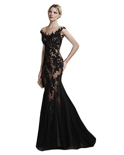 Dressvip schwarzes Spitze Frauen Abschlussball Kleid für speziellen ...