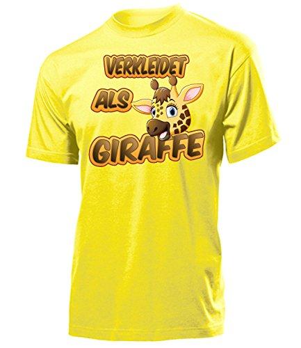 Giraffe 5265 Karneval Fasching Tier Kostüm Giraffen Tier Herren Shirt Paar Gruppen Outfit Klamotten Oberteil Faschings Karnevals Motto Party Gelb M
