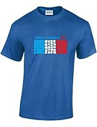 Paris Roubaix Cobbled Flag Cycling T-Shirt