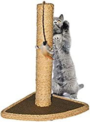Scratching Post Cat Scratcher Pole Hemp Rope Pet Scratch Pillar with Cat Hanging Toy for Satisfing Cat's N