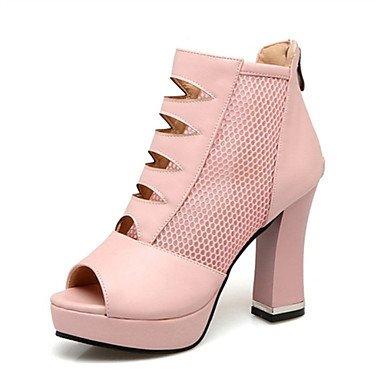 LvYuan Sandali-Matrimonio Formale Casual-Comoda Innovativo Club Shoes-Quadrato-Materiali personalizzati Finta pelle-Nero Rosa Bianco Black