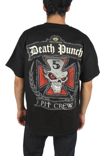 Five Finger Death Punch - Die Crew T-Shirt in Schwarz Schwarz