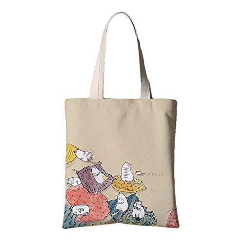 Liebe Canvas Tote Bag (Groß-Shopping-Bagscat Canvas Tote Bag Umhängetasche Hellgelb)