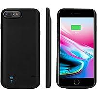 Étui de Batterie pour iPhone6plus/ 7plus/ 8plus 8000mAh étui de Chargeur Portable étendu iPhone Cas de Soutien Lightning, Sync à Travers, avec Kickstand Pop-Out Noir