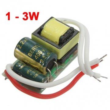 Hohe Qualität 1-3W LED Driver Power Supply Konstantstrom für Bulb 85-277V -
