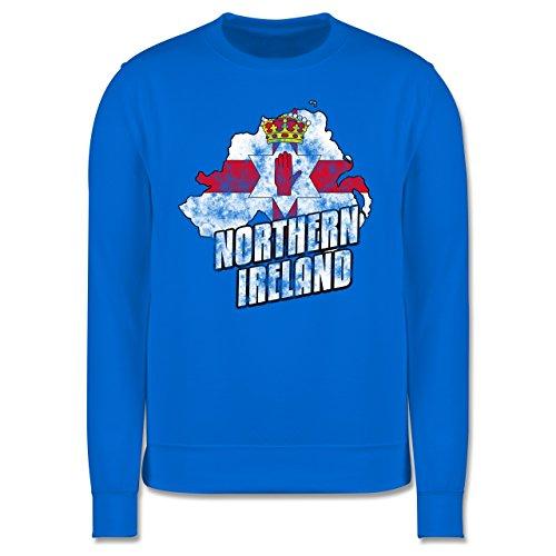 EM 2016 - Frankreich - Northern Ireland Umriss Vintage - Herren Premium Pullover Himmelblau